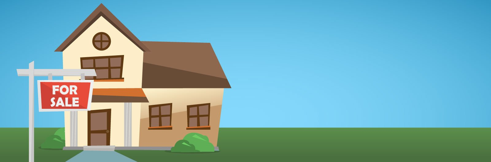 Illustration of a home for sale.